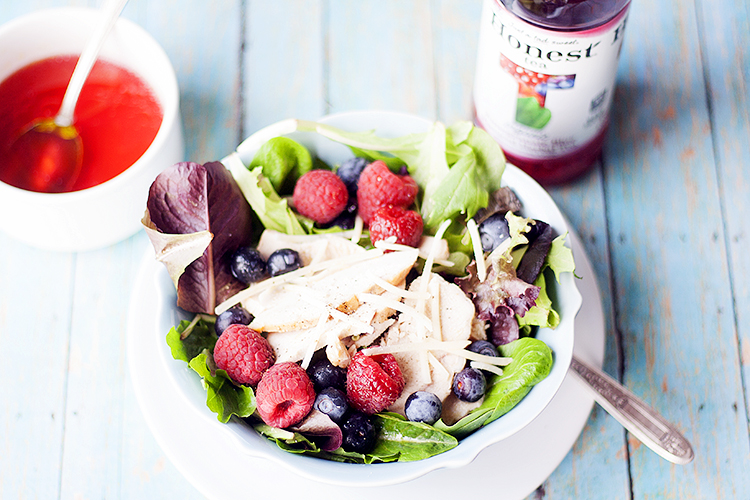 Honest Tea Pom Blueberry Salad