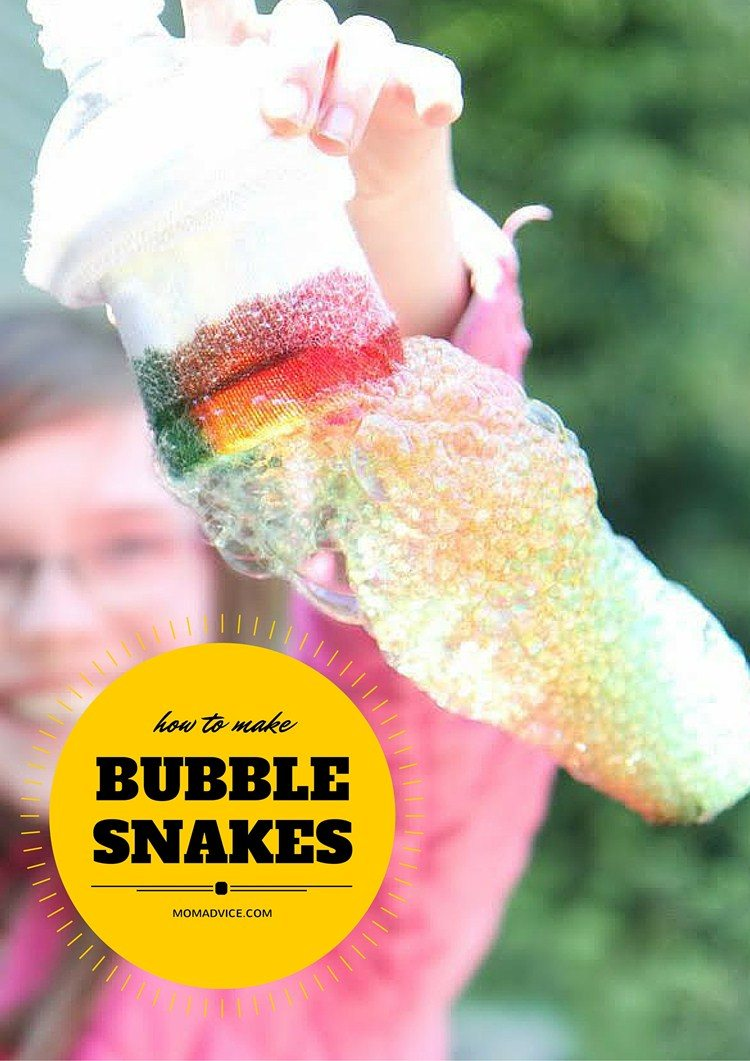 How to Make Bubble Snakes from MomAdvice.com