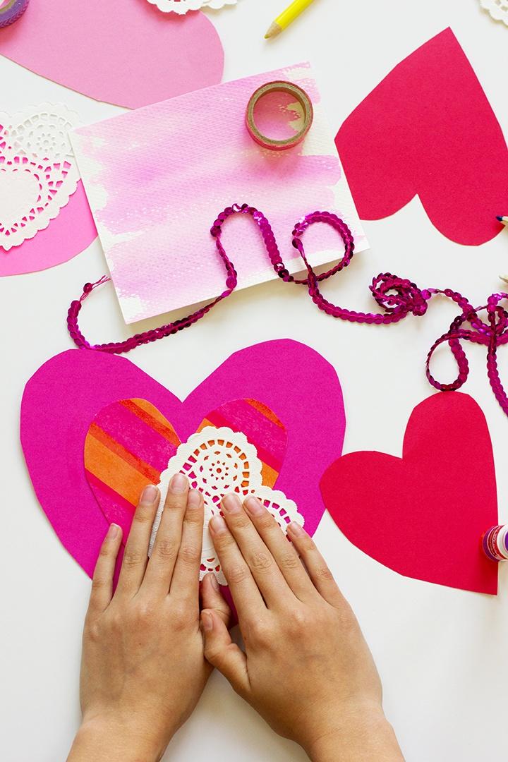 Spreading Kindness with Handmade Valentine's Hearts